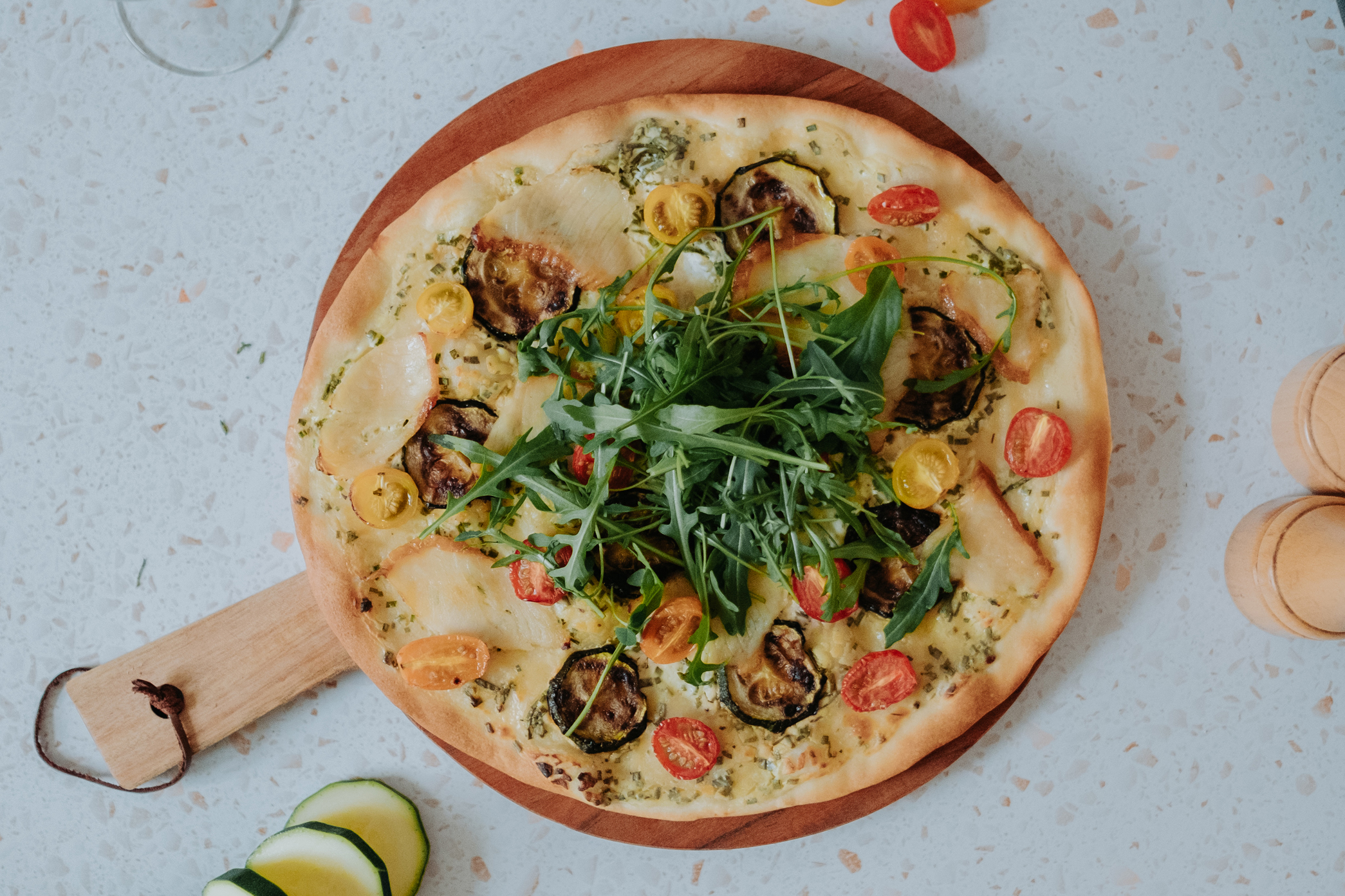 foto pizza omegabaars courgette